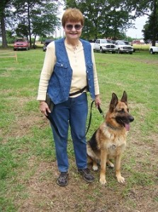 Max, seen here with owner Pam Pelton, served his country from 2003-2007 before dying aged 10 on Memorial Day 2012 (credit: Pam Pelton)
